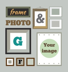 Colorful photo frames in flat style vector image