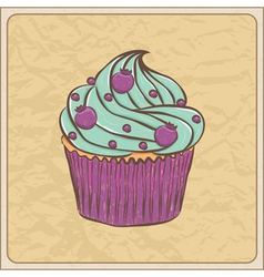 cupcakes11 vector image