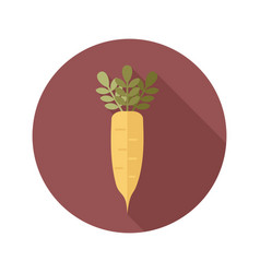 Daikon flat icon vegetable root vector