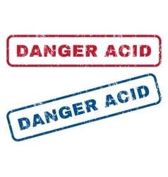 Danger Acid Rubber Stamps vector