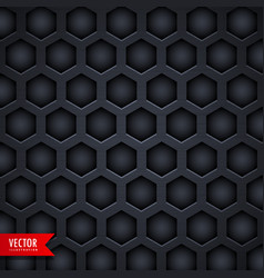 dark hexagonal pattern background design vector image