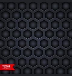 Dark hexagonal pattern background design vector