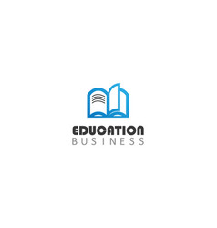 education business logo vector image
