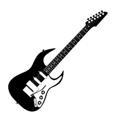 electric guitar contour vector image