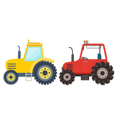 farming machine farm vehicle tractor vector image