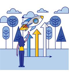 Fintech business related vector