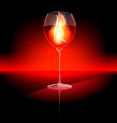 fire in a glass vector image