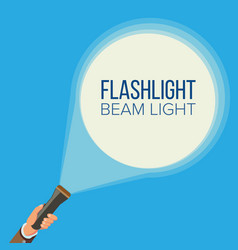 flashlight and hand business web search vector image