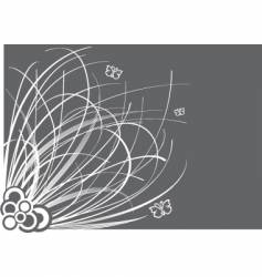 Floral border graphic vector