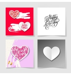 Four pieces blank sheet of square paper with vector
