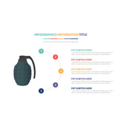 green grenade infographic template concept with vector image
