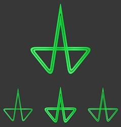 Green line research logo design set vector