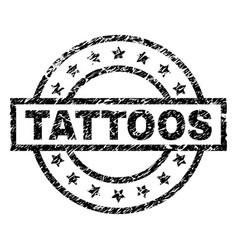 Grunge textured tattoos stamp seal vector