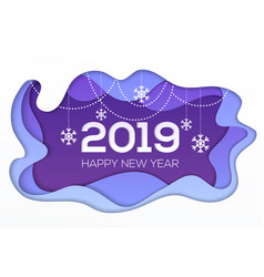 happy new year 2018 - modern paper cut vector image