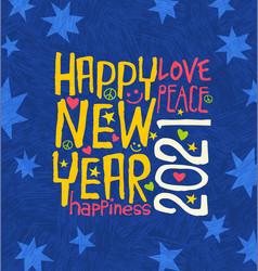 happy new year 2020 design inspiring handwriting vector image