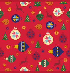 happy new year and merry christmas 2018 24 vector image