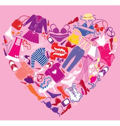 I Love Shopping image - the heart vector image