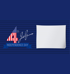 independence day usa banner fly vector image