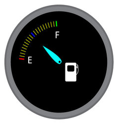 Indicator fuel device vector image