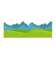 Isolated snowy mountains view vector
