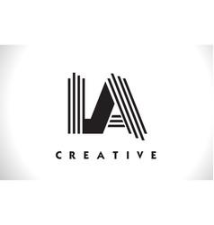 la logo letter with black lines design line letter vector image