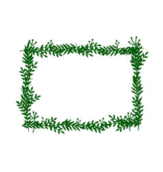 leaves frame white frame on background with vector image