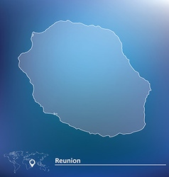 Map of Reunion vector