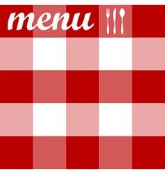 Menu design tablecloth texture vector