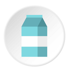 Milk box icon flat style vector