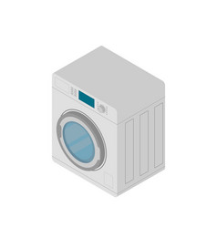 modern washing machine isolated on white vector image