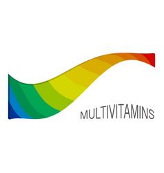 multi vitamin mineral complex supplement label vector image