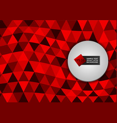 new design red color triangles abstract vector image