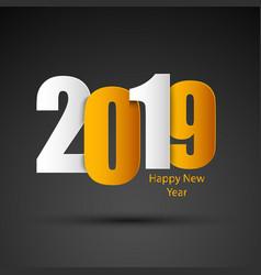 new year card in white orange design vector image