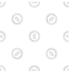 one dollar pattern seamless vector image