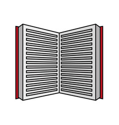 open book learning vector image