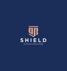 or dr shield logo vector image