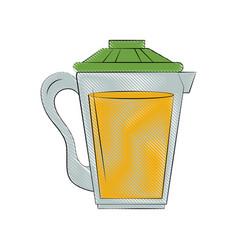 orange juice in jug image vector image
