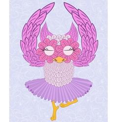 Owl ballerina vector