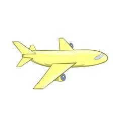 Passenger airplane icon cartoon style vector image