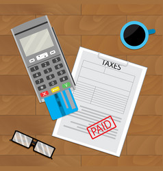 Payment tax flat vector