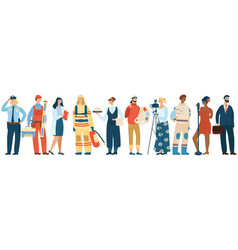 people occupation professional man and vector image