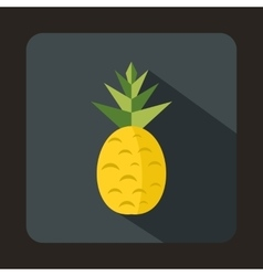 Pineapple icon in flat style vector