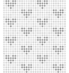 polka dot pattern with hearts seamless vector image