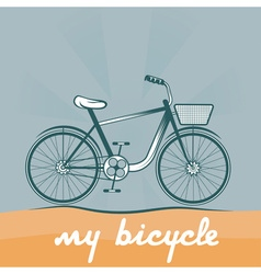 retro of bicycle vector image