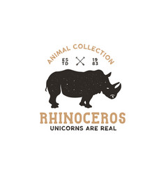 Rhino wild animal logo template stock vector