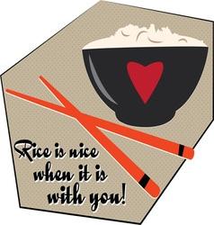 Rice Is Nice vector image