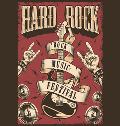 rock and roll poster vector image