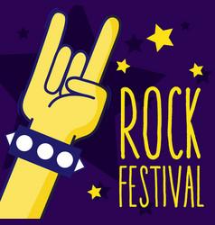 Rock festival cartoon vector