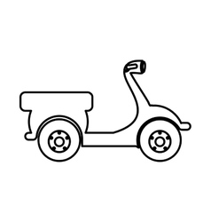scooter bike pictogram icon image vector image