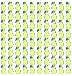 Seamless pear vector image
